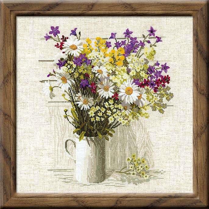 Полевые цветы вышивки фото