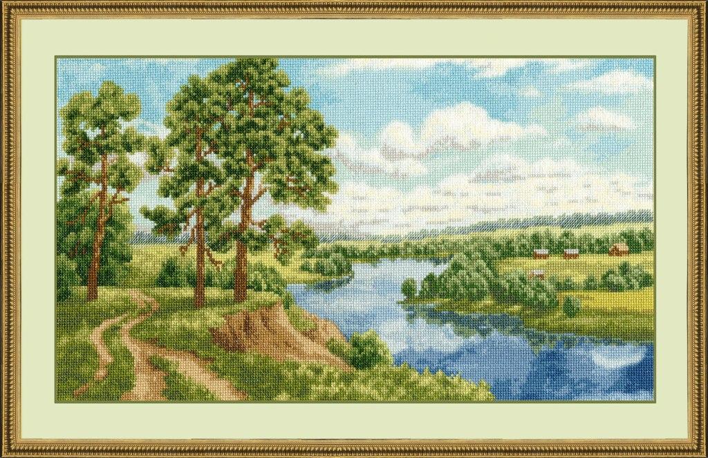 Схема вышивки пейзаж в золотое руно