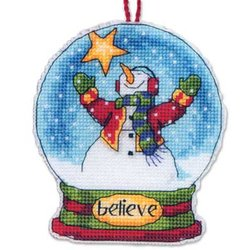 Believe Snow Globe Ornament kit